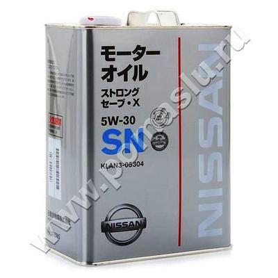 KLAN3-05304 Моторное масло NISSAN SN 5W-30 4л