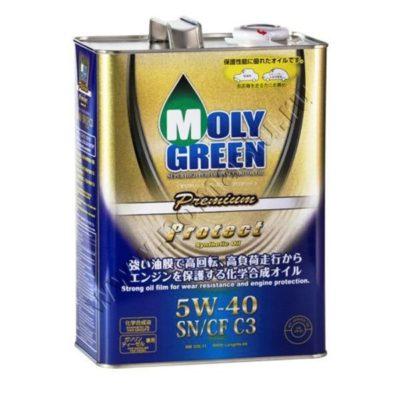 Моторное масло MOLYGREEN PREMIUM PROTECT SN CF C3 5W-40 4л