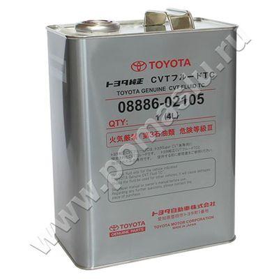 08886-02105 Трансмиссионное масло Тойота для вариатора CVT FLUID TC 4л