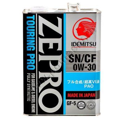 IDEMITSU Zepro Touring Pro 0W30 SN/CF GF-5 Моторное масло 4л