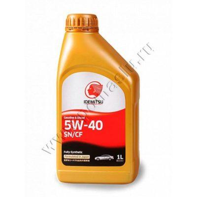 Idemitsu 5w40 sn/gf Моторное масло 1л.