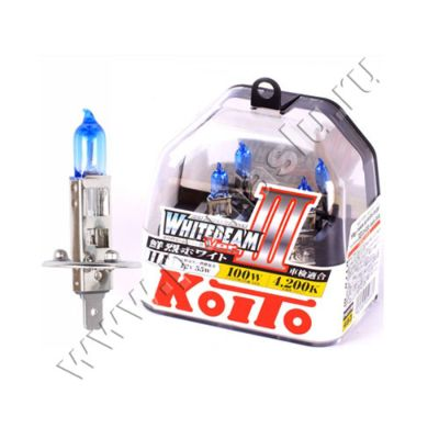 Koito H1 4200K 12V 55W (100W) Whitebeam III лампы галогенные
