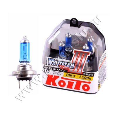 Koito H7 Whitebeam III 4200K 12V 55W (100W) лампы галогенные — 2 шт.