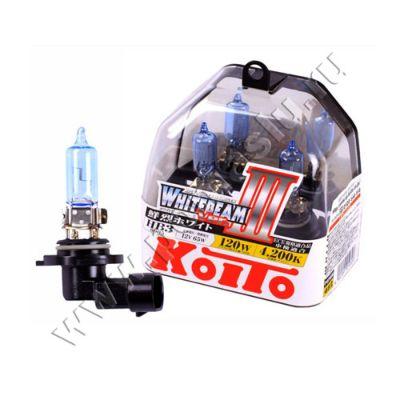 Koito HB3 Whitebeam III 4200K 12V 65W (120W) лампы галогенные — 2 шт.